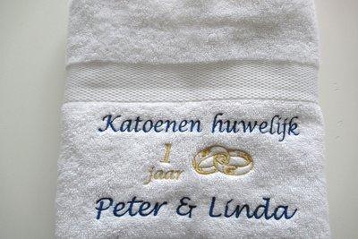 Katoenen Huwelijk Cadeau 1 Jaar Getrouwd Huwelijkskado