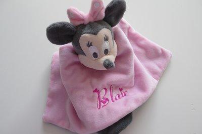 Minnie Mouse knuffeldoekje met Naam