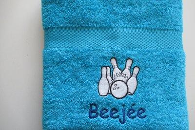 Handdoek met Bowlingballen