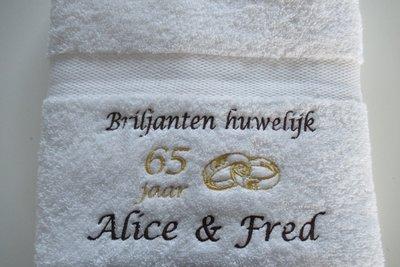 Briljanten huwelijk cadeau | 65 jaar getrouwd