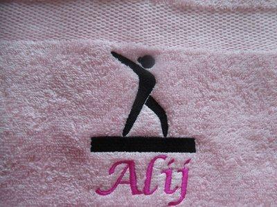 Handdoek met naam voor Turnen