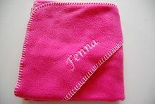 fleece deken donker roze
