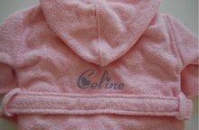 kinderbadjas 1-2 jaar roze