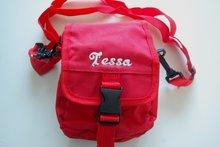 rode tas met naam