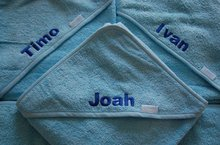 blauwe badcapen