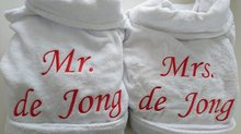 huwelijkscadeau badjas