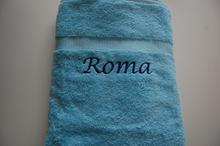 blauwe badlaken
