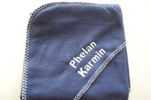 Fleece deken navy blue