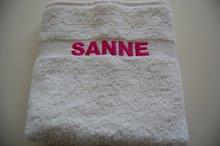 handdoek wit met naam
