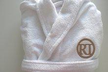 dames badjas met logo