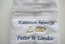 Katoen huwelijk cadeau